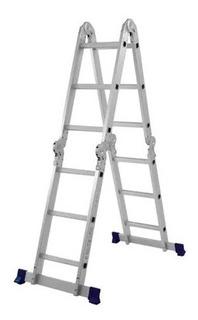 Escada Multifuncional Profissional 4x3 Mor 12 Degraus