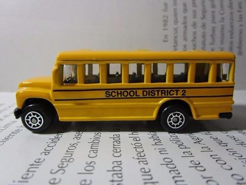 Bus Escolar Escala Miniatura Metalico Coleccion Maisto