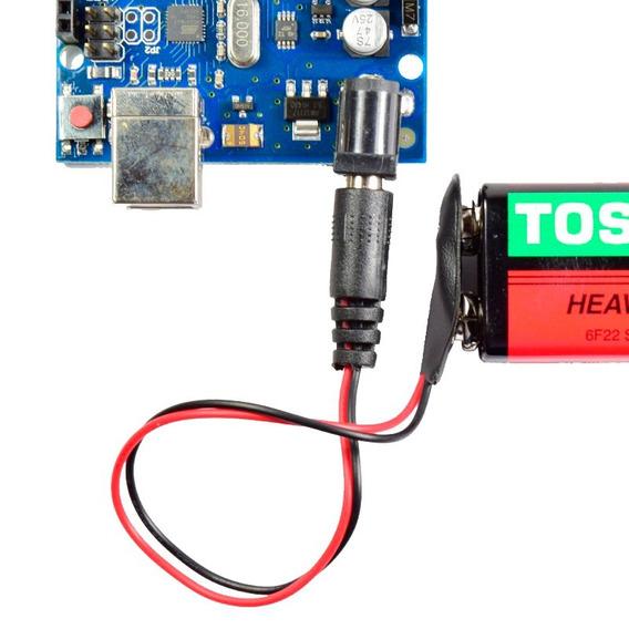 Conector Com Plug Para Bateria 9 Volts Arduino R3