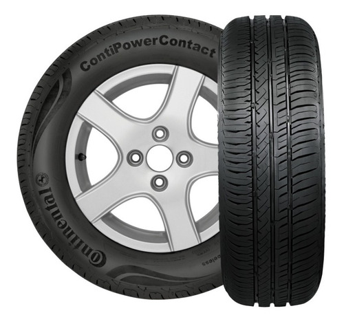 Kit X2 Neumaticos 185/65r15 Continental Power Contact - Fs6