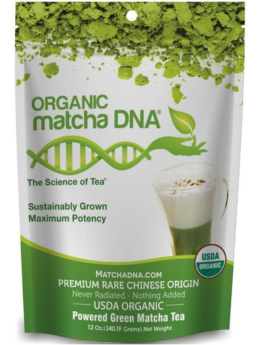 Te Verde Matcha Certificado  Matcha Dna Organico 12 Oz
