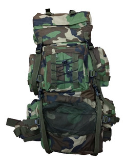 Mochila Mochilero Alpes 70 Lts Militar Reforzada Acolchada