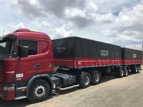 Conjunto Scania 114 380 Com Bitrem Randon