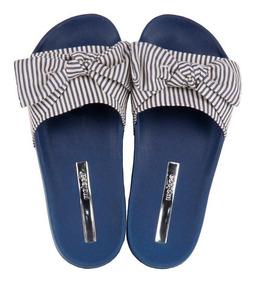 Chinelo Slide Moleca Feminino Nó 5414.104 Jeans