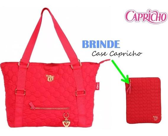 Bolsa Tote Capricho Love Vii Red Original Dmw + Brinde