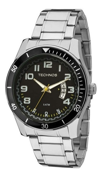 Relógio Technos Pulso Aco Pulseira Aco Qz Technos 2115ksl/1y