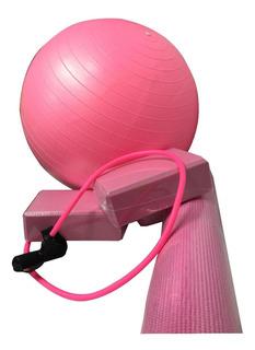 Kit Treino Yoga Pilates Fisioterapia Tapete Bola Bloco Yoga