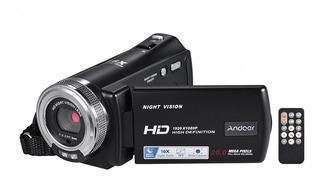 Videograbadora Andoer V12 Fhd 1080p 16x