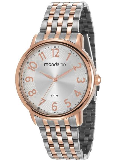 Relógio Mondaine Feminino Prata/rosê 53673lpmvge3