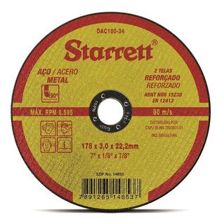 Disco De Corte 7pol X 3mm X 7.8pol Starrett - Dac180-34