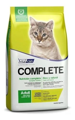 Alimento Vitalcan Complete Control de Peso/Castrados para gato adulto sabor mix en bolsa de 7.5kg