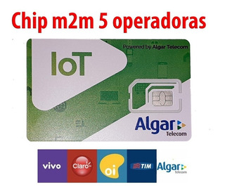 Chip M2m Algar 5em1 (vivo, Tim, Oi, Claro, Algar)
