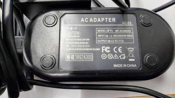 Fonte Ack-e18 Adaptador Ac P/ Canon Rebel T6i T6s T7i 77d