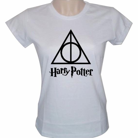 Baby Look Feminina Série Filme Harry Pottercamiseta Camisa
