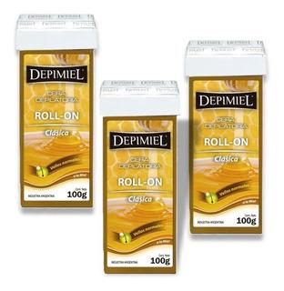 Cera Depilatoria Roll On Depimiel Sistema Español Pack 3un