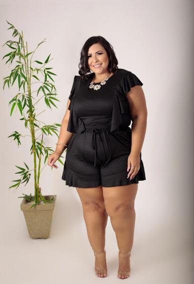 Short E Blusa Plus Size-conjunto- 50 Ao 54-roupa De Mulher