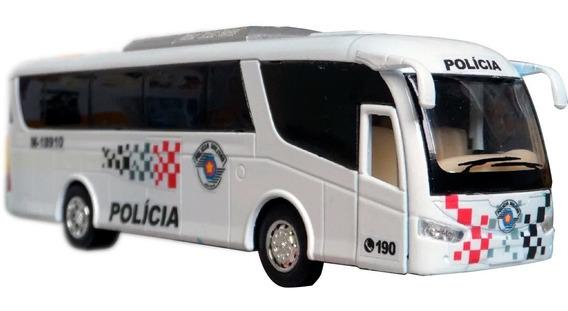Miniatura Ônibus Polícia Militar Pm Sp - Atual