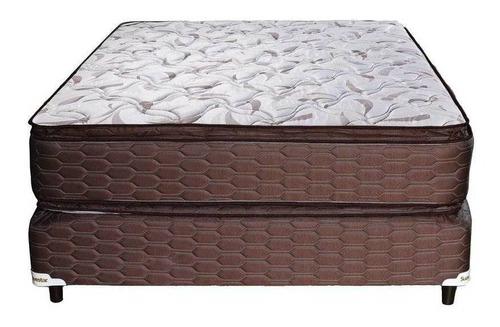 Sommier Suavestar Superstar Pillow 2 1/2 plazas 190x140cm blanco y marrón