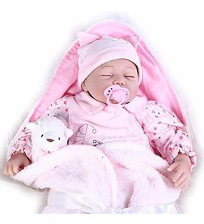 Reborn Bebe De Juguete Con Un Peluche Y Accesorios - Pompon