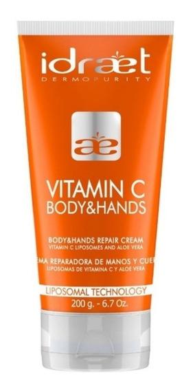 Vitamina C Manos Y Cuerpo - Crema Reparadora - Idraet