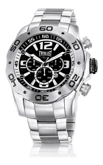 Relógio Masculino Everlast Aço Inox Grande Oferta E549 Prata