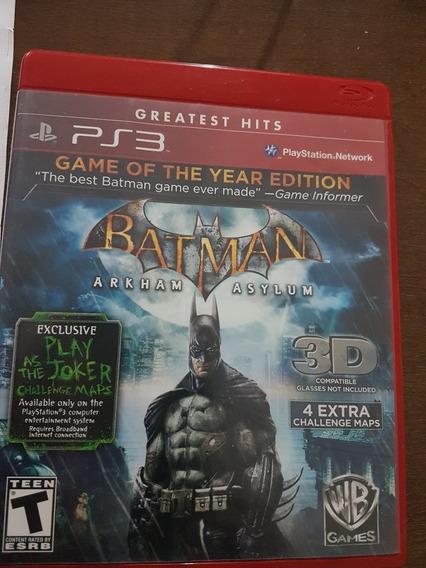 Mídia Física Ps3 Batman Original