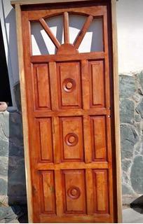 Puerta Rayito De Sol Algarrobo Macizo