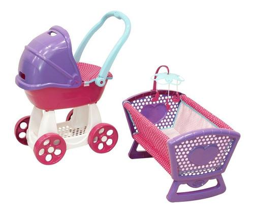 Imagen 1 de 2 de Carriolita Y Cuna Para Muñecas Prinsel Combo Baby