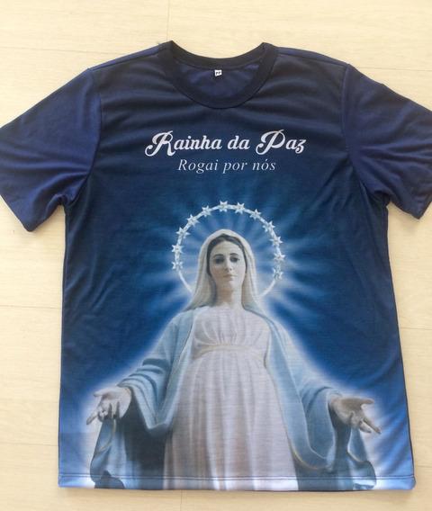 Camiseta Rainha Da Paz Moda Católica