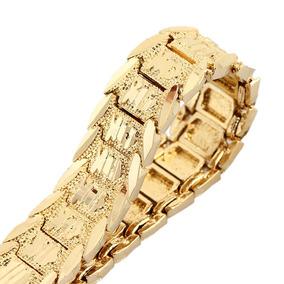 b5c39a545bc6 18 Quilates De Oro Chapado Hombres Pulsera Moda Vendimia Enl