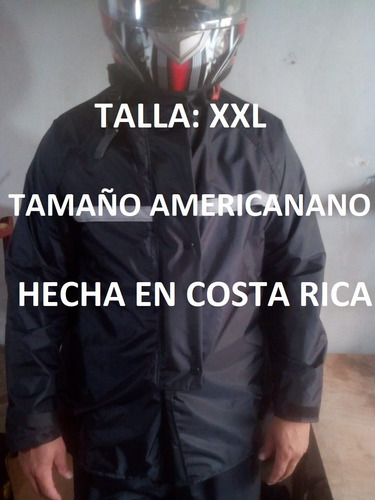 Capa Negra Xxl Impermeable Kamelia Moto Scooter Hechas Cr