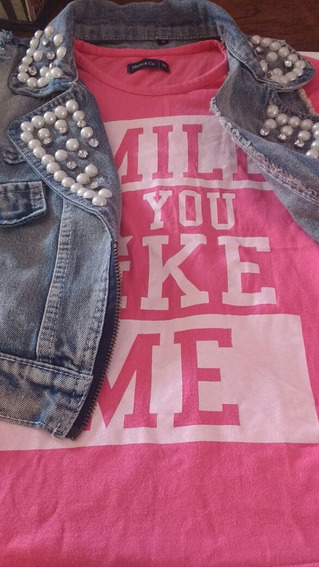 Remera Mimo + Chaleco Jeans