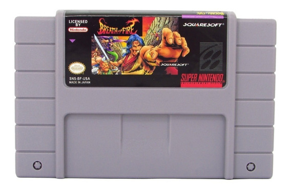 Fita Snes Breath Of Fire Cartucho Super Nintendo Salvando