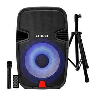 Cabina Audio Activa Pro Parlante Bluetooth Bateria 15pg Aiwa