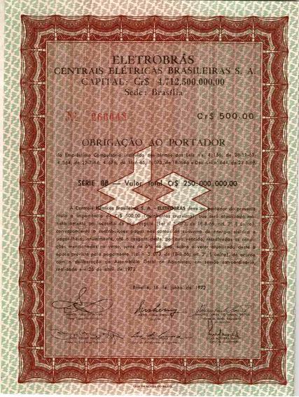 Apólice Obrigação Eletrobras Série Bb Nº266049 20 Cupons