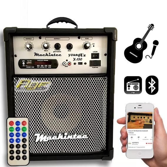Caixa De Som Mackintec Amplificada X150 Usb Fm + Controle