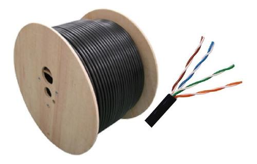 Cable Utp Para  Exterior Blindado  Rollo Cat6 E 305 Metros