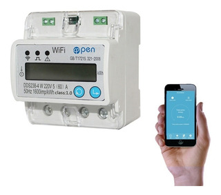 Medidor De Consumo De Electri Monofásico Inteligente Wifi