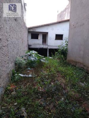 Terreno À Venda, 240 M² Por R$ 750.000 - Parque Oratório - Santo André/sp - Te0911