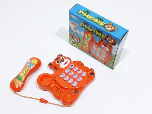 Teléfono Infantil Con Luz Y Sonido Para Bebe Juguete Pacho's