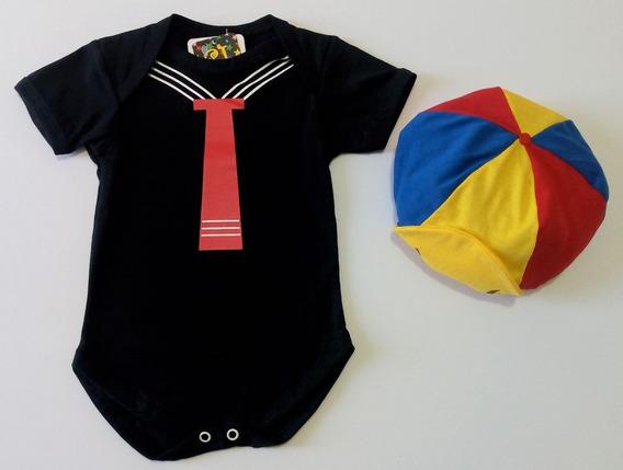 Body Infantil Chaves E Kiko Com Acessórios