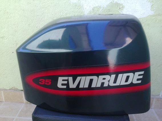 Capô Para Motor De Popa Evinrude 35 Hp