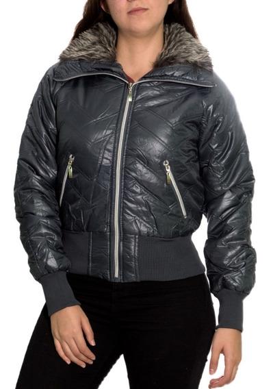 Jaqueta Feminina Inverno Sem Capuz Nylon Original Modelada