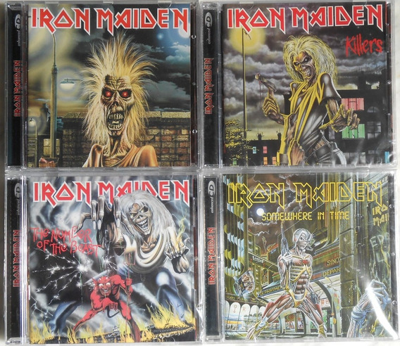 Lote Cd Iron Maiden - Maiden Killers Number Somewhere Nuevos