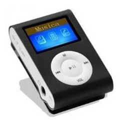 Mini Mp3 Player 4gb Preto Titan Com Display - Frete Gratis