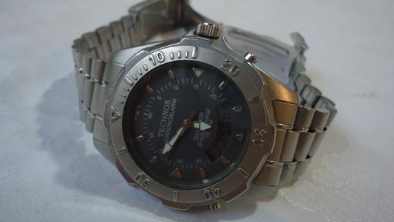 Relógio Technos Chronoalarm Skydiver Professional Otimo Est.