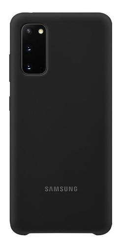 Capa Protetora Silicone Preto Samsung Galaxy S20