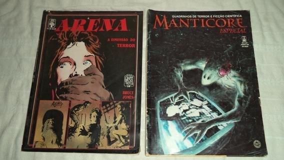 Quadrinhos Manticore Especial E Arena Revistas De Terror