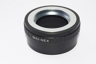 Adaptador M42-- Sony Nex Más Tapa Lente Trasera