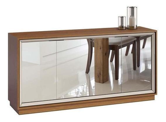 Balcão Espelhado Buffet Sala Off White Espelho Imcal Oferta